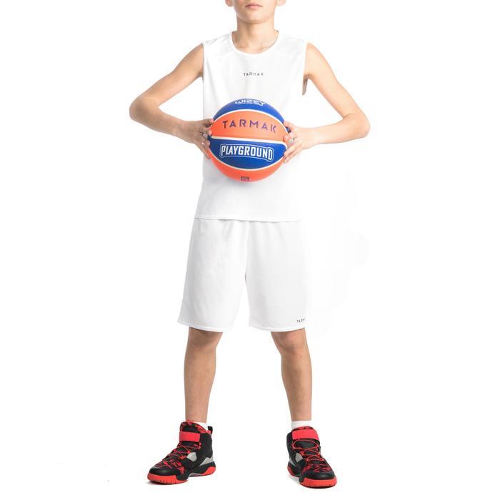 Basketbalshort SH100 wit (kinderen)