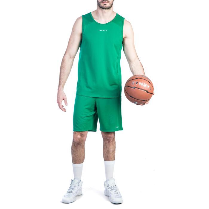 Basketbalshort SH100 groen (heren)
