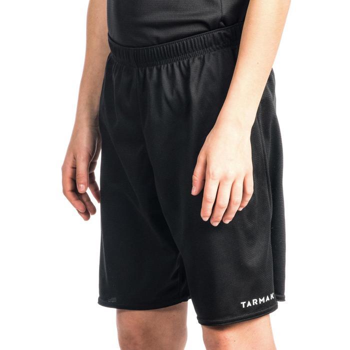 Basketbalshort SH100 voor beginnende jongens en meisjes zwart
