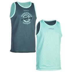 Omkeerbaar basketbalshirt jongens/meisjes halfgevorderden cam.