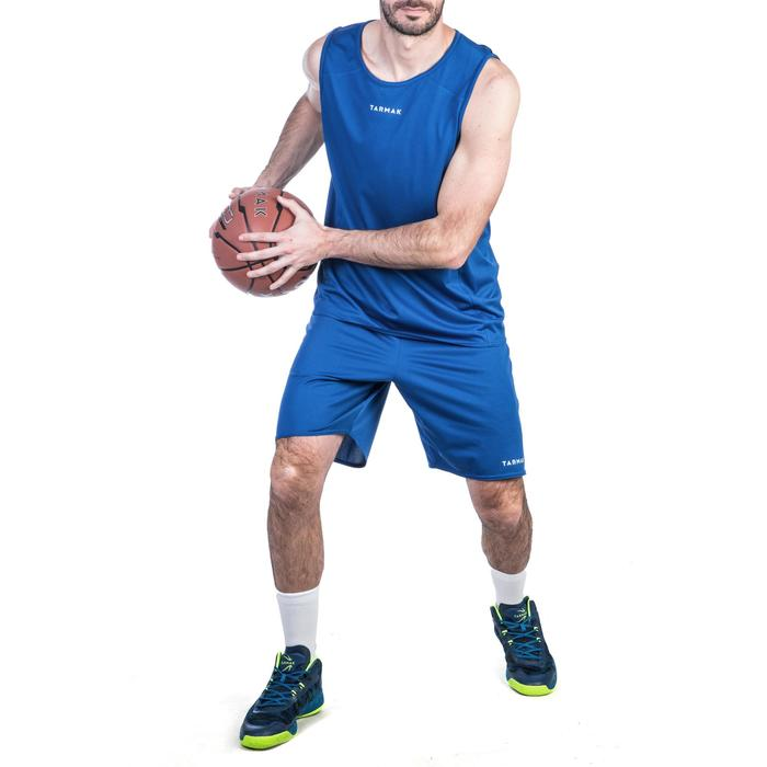 Basketbalshort voor heren SH100 blauw