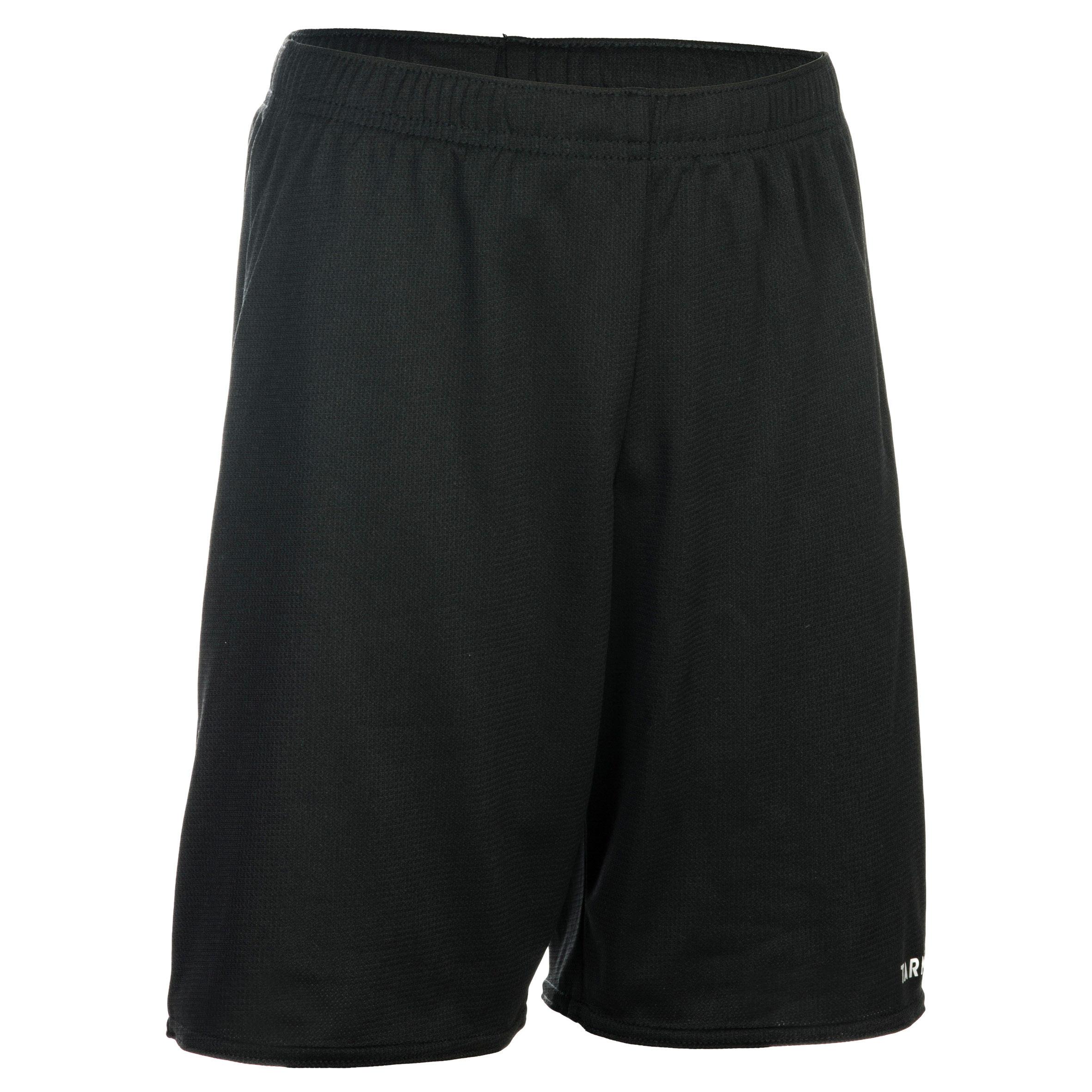 Tarmak Basketbalshort voor beginnende jongens/meisjes zwart SH100