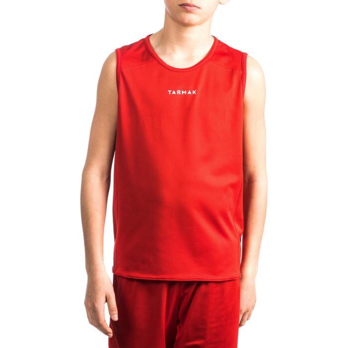 Basketbalshirt voor beginnende jongens/meisjes rood T100
