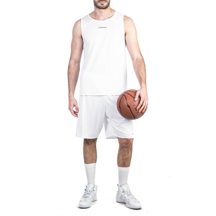 Basketballshorts SH100 Herren Einsteiger weiß