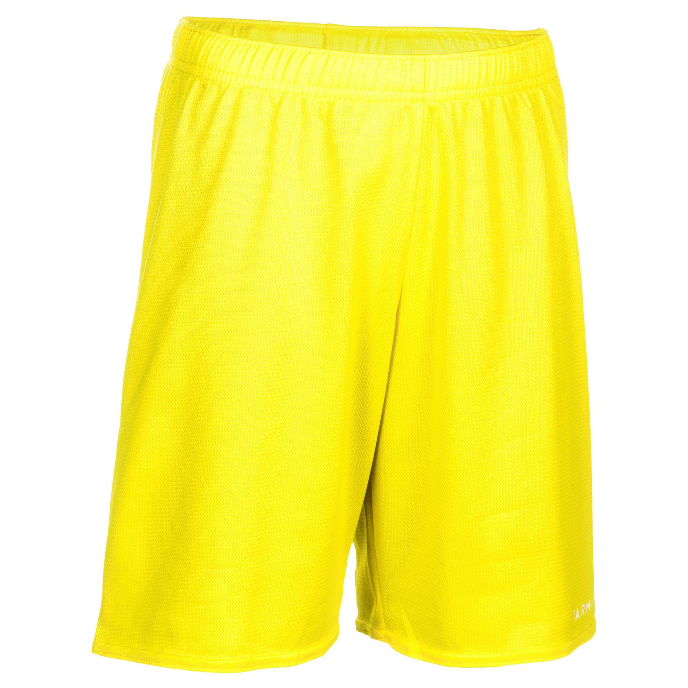 Basketballshorts SH100 Kinder Einsteiger gelb   Sportbekleidung > Sporthosen > Basketballshorts   Tarmak
