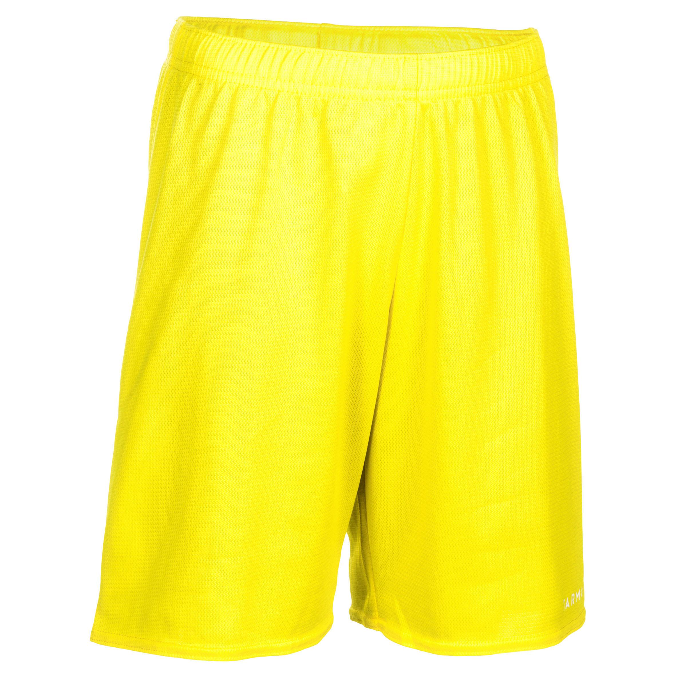 Tarmak Basketbalshort SH100 geel (kinderen)