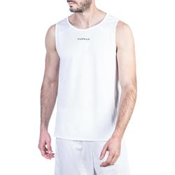 MAILLOT / DEBARDEUR DE BASKETBALL HOMME T100 BLANC