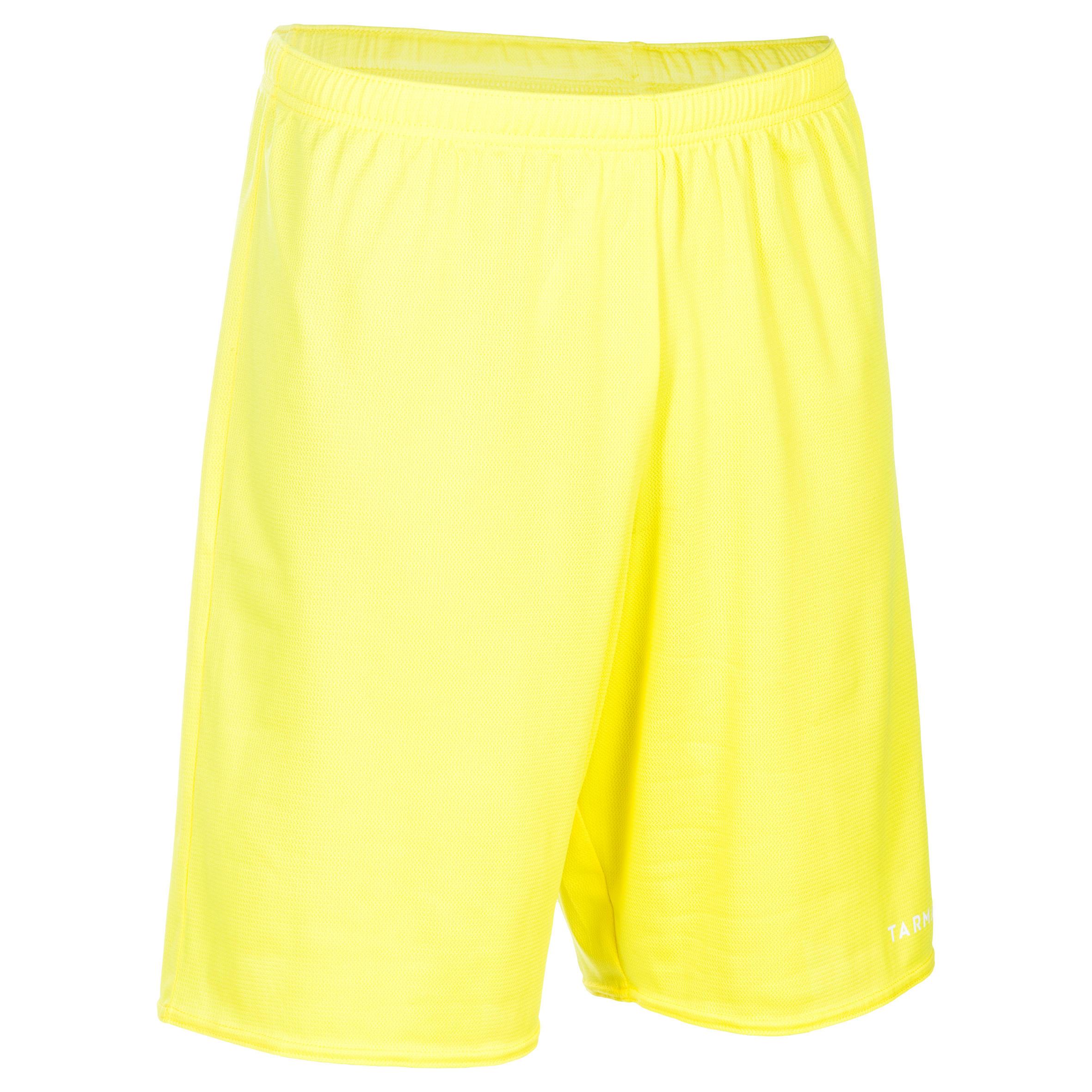 Basketballshorts SH100 Erwachsene gelb   Sportbekleidung > Sporthosen > Basketballshorts   Gelb - Weiß   Tarmak