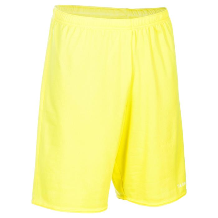 Basketbalshort voor beginnende heren/dames SH100 geel