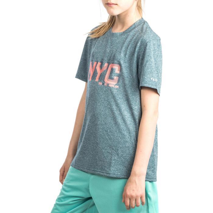 Basketbal T-shirt Fast jongens/meisjes halfgevorderden blauw grijs NYC