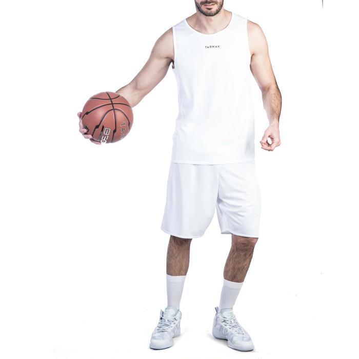 Basketballtrikot T100 Einsteiger Damen/Herren weiß
