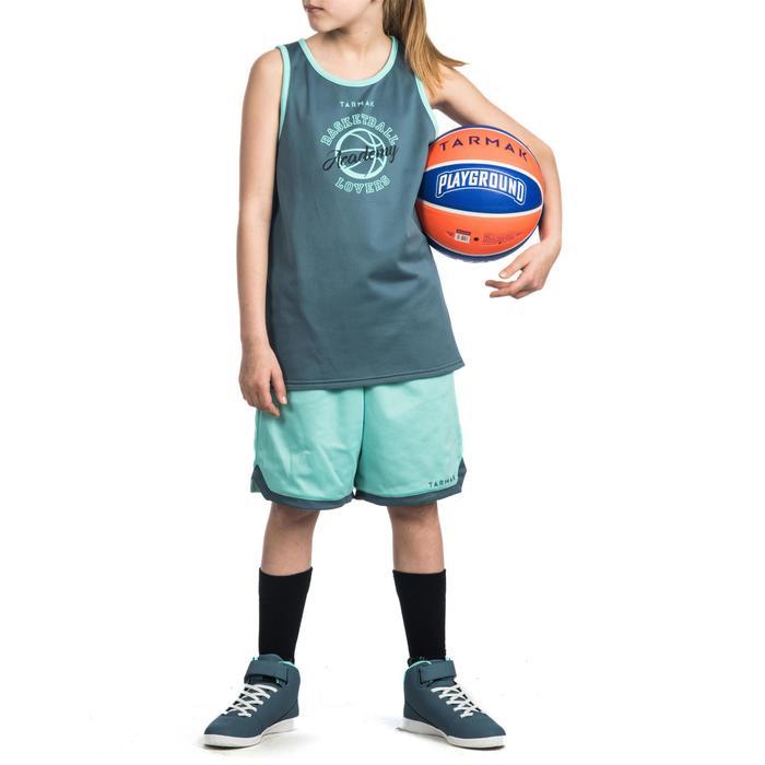 Basketball-Wendeshorts SH500 Kinder Fortgeschrittene türkis/grau