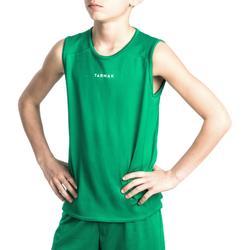 Camiseta Baloncesto Tarmak T100 Niños Verde