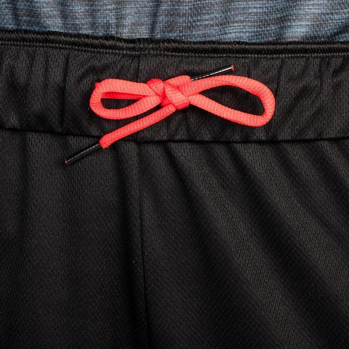 Basketballshorts SH500 Damen Fortgeschrittene schwarz/rot meliert