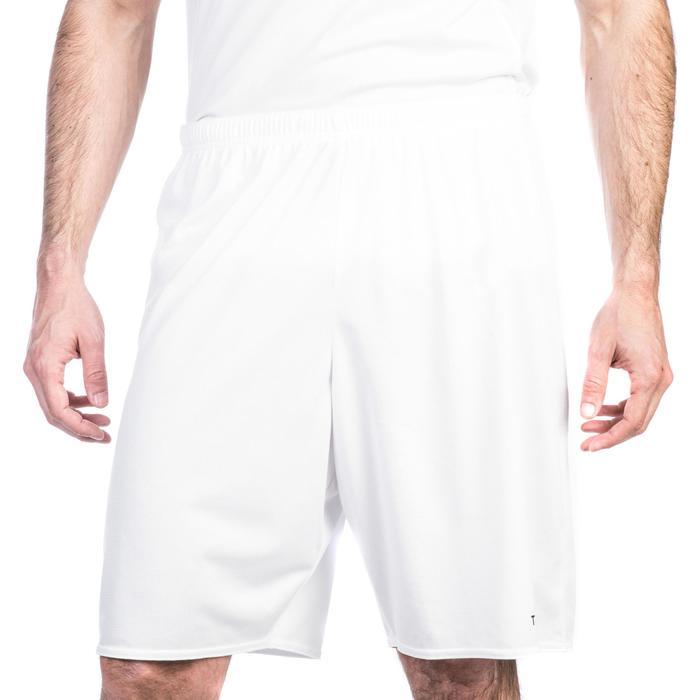SHORT DE BASKETBALL HOMME/FEMME DEBUTANT SH100 BLANC