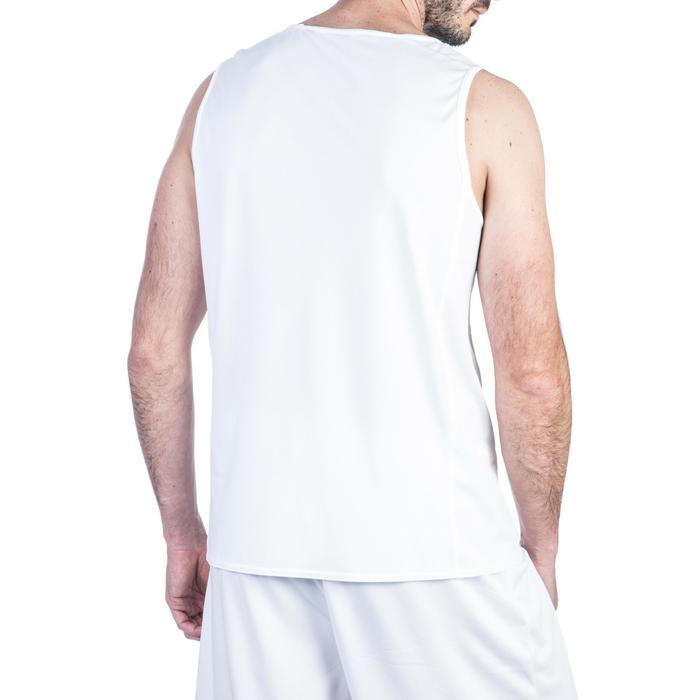 Mouwloos basketbalshirt voor beginnende heren T100 wit