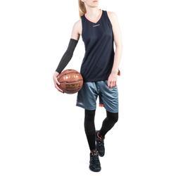 SHORT SH500 DE BASKETBALL FEMME POUR CONFIRMEE GRIS ROSE