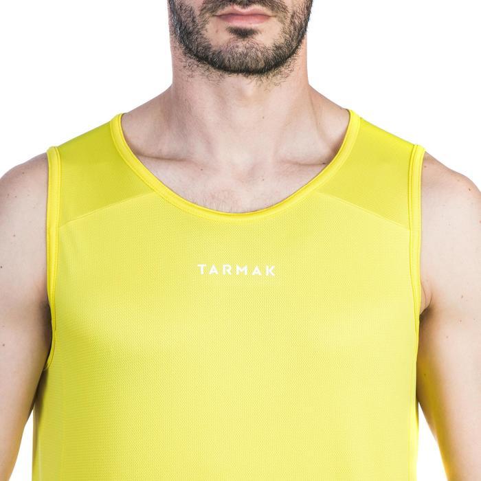 Basketballtrikot T100 Damen/Herren Einsteiger gelb