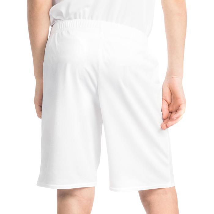 Basketbalshort B300 jongens/meisjes beginners wit