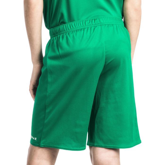 Basketbalshort voor beginnende jongens/meisjes groen SH100