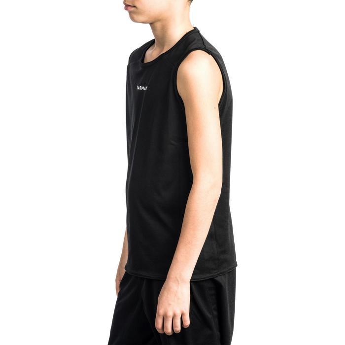 兒童款初階籃球背心T100-黑色