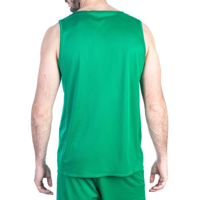 Mouwloos basketbalshirt voor beginnende heren T100 groen