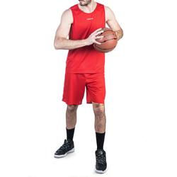 SHORT DE BASKETBALL HOMME SH100 ROUGE