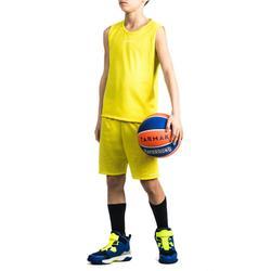 Camiseta Baloncesto Tarmak T100 Niños Amarillo