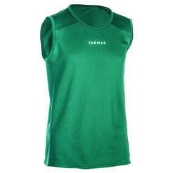Mouwloos basketbalshirt voor beginnende jongens/meisjes groen T100