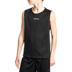 Basketbalshirt T100 voor beginnende jongens en meisjes zwart