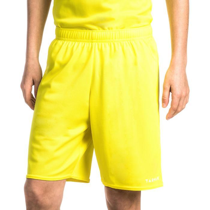 Basketbalshort voor beginnende jongens en meisjes geel SH100