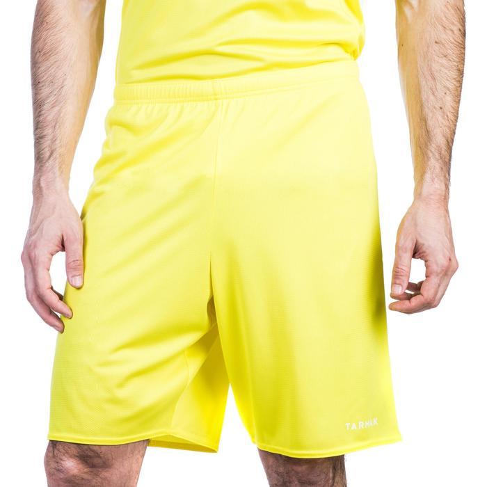 Basketbalshort voor beginnende heren SH100 geel