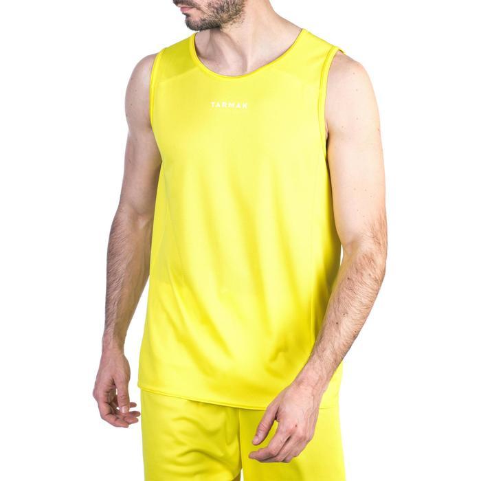 Mouwloos basketbalshirt voor beginnende heren T100 geel