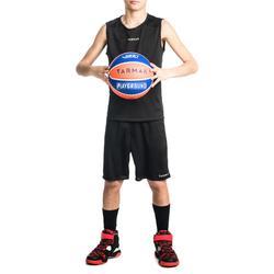 Basketbalshort voor beginnende jongens/meisjes zwart SH100