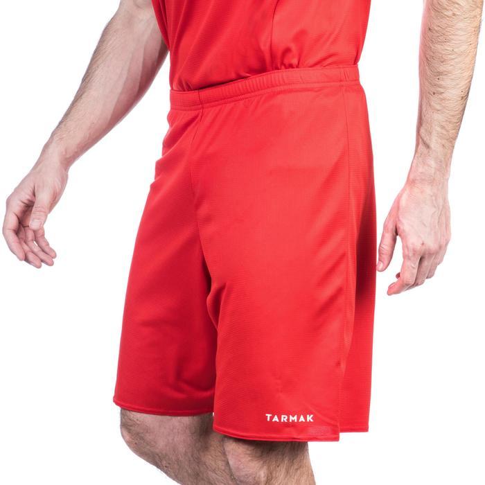 Basketbalshort voor beginnende heren/dames SH100 rood