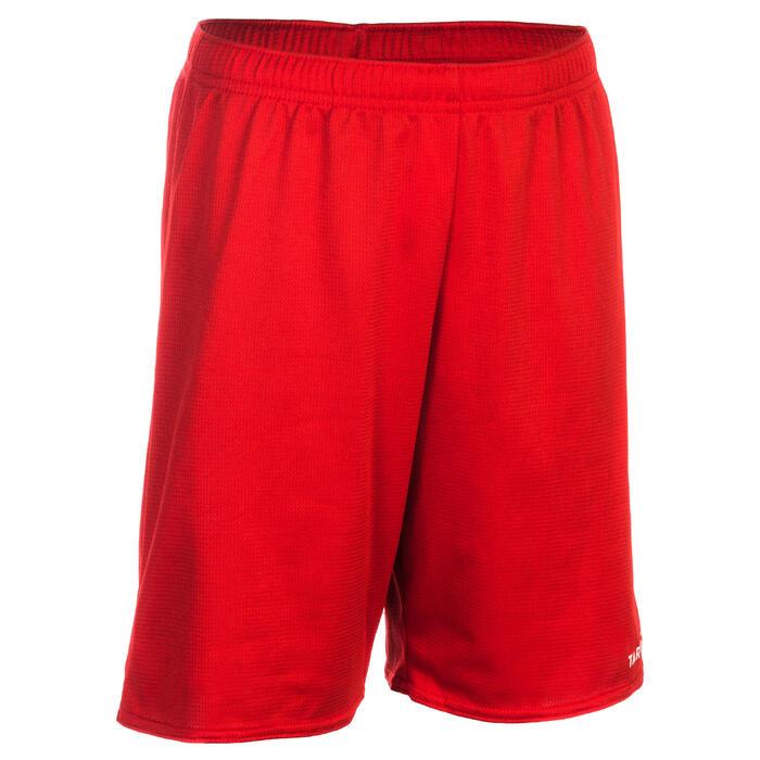 Basketbalshort voor beginnende jongens/meisjes rood SH100