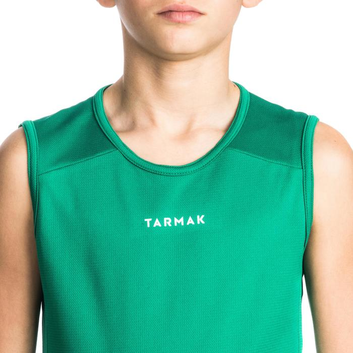 Mouwloos basketbalshirt T100 voor beginnende jongens en meisjes groen