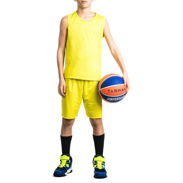 Pantalón Baloncesto Tarmak SH100 Niños Corto Amarillo