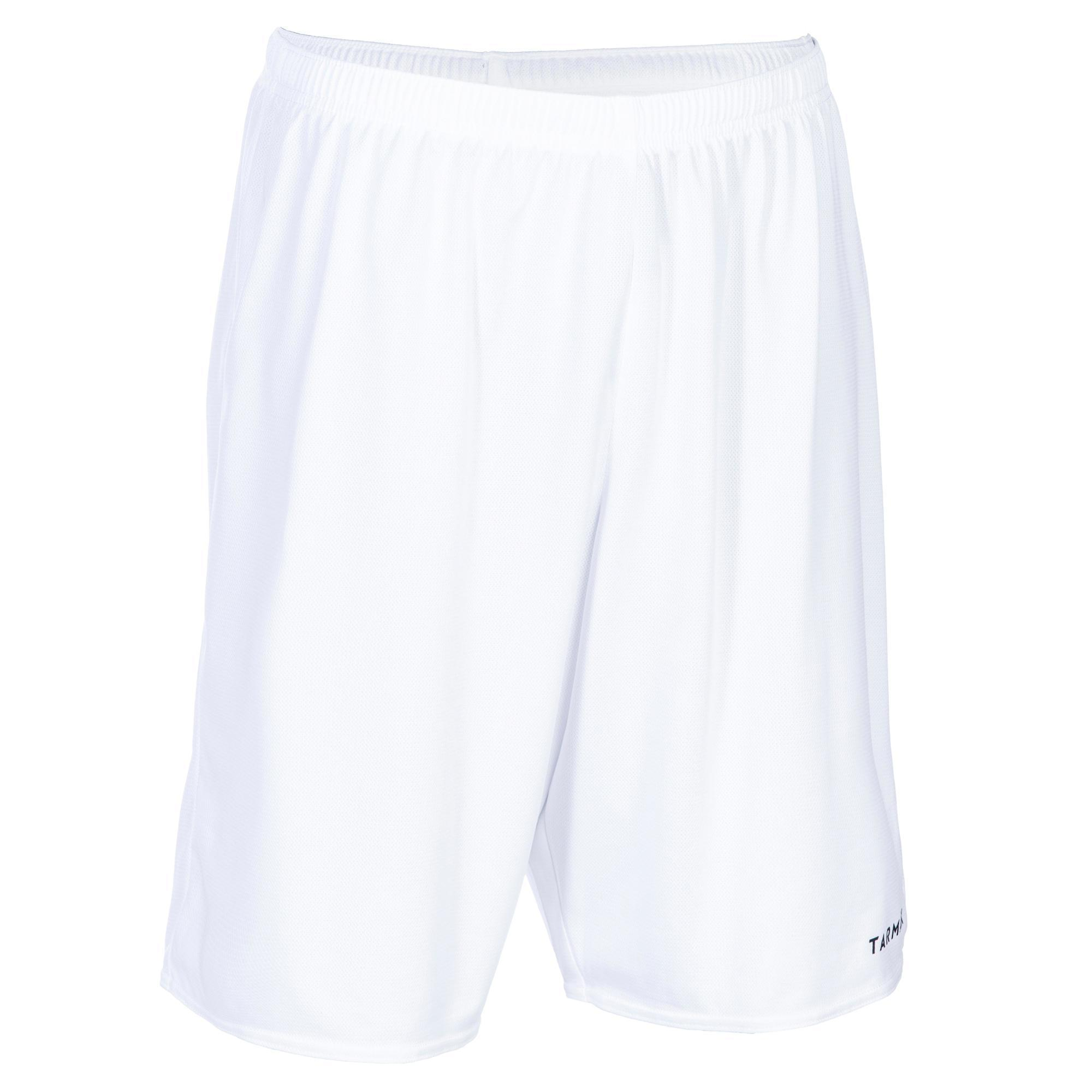 Basketballshorts SH100 Herren Einsteiger weiß | Sportbekleidung > Sporthosen > Basketballshorts | Weiß - Schwarz | Tarmak