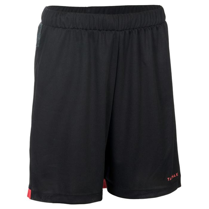 SHORT SH500 DE BASKETBALL FEMME POUR CONFIRMEE NOIR CHINE ROUGE