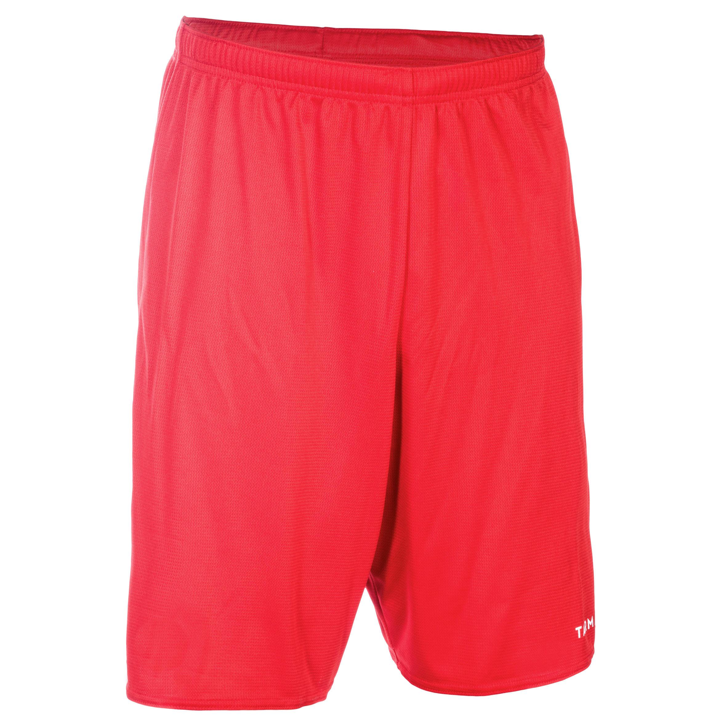 Basketballshorts SH100 Erwachsene rot   Sportbekleidung > Sporthosen > Basketballshorts   Rot - Weiß   Tarmak