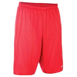 Basketbalshort SH100 rood (heren)
