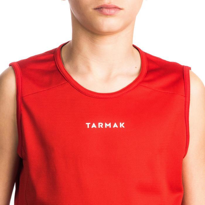 TANK DEBARDEUR T100 DE BASKETBALL GARCON/FILLE POUR DEBUTANT ROUGE