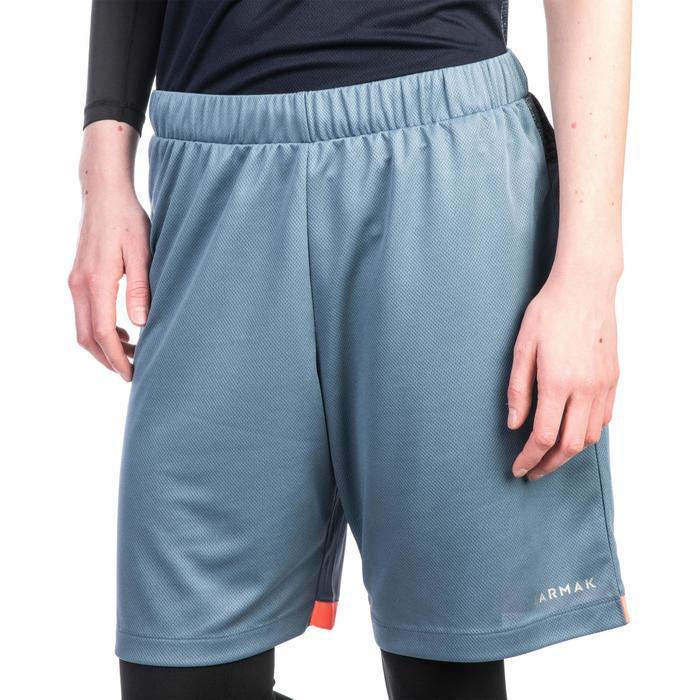Basketballshorts SH500 Damen Fortgeschrittene grau/rosa