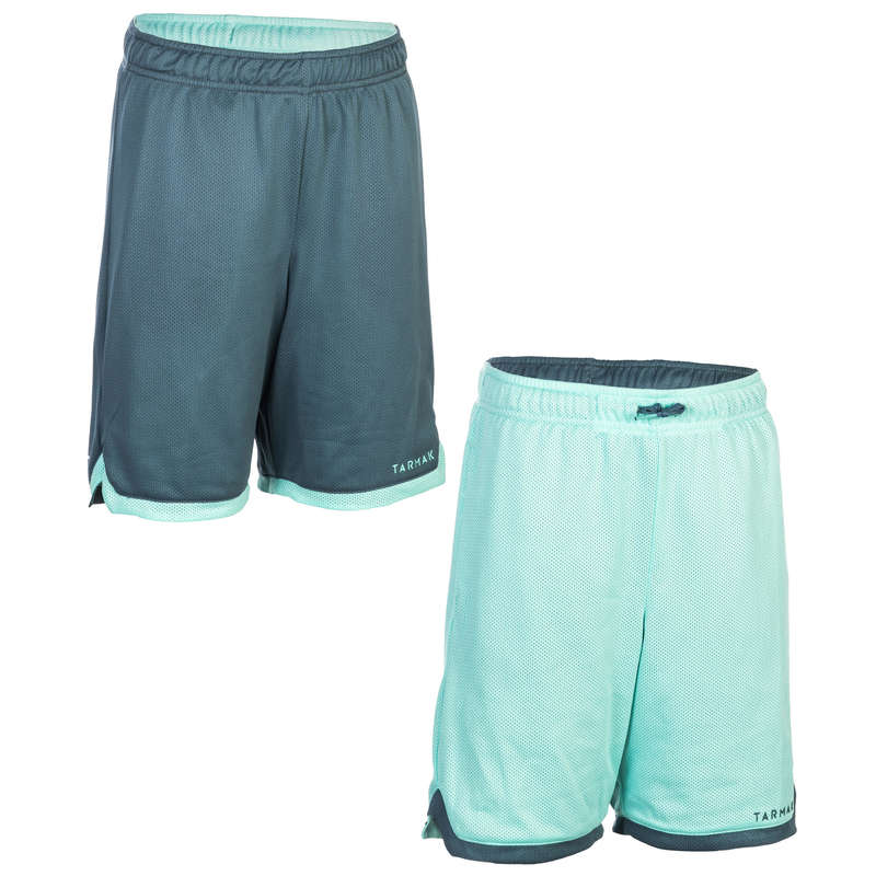 KIDS BASKETBALL OUTFIT - SH500R JR Shorts Turq/Grey TARMAK