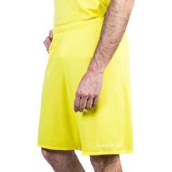 Basketballshorts SH100 Erwachsene gelb