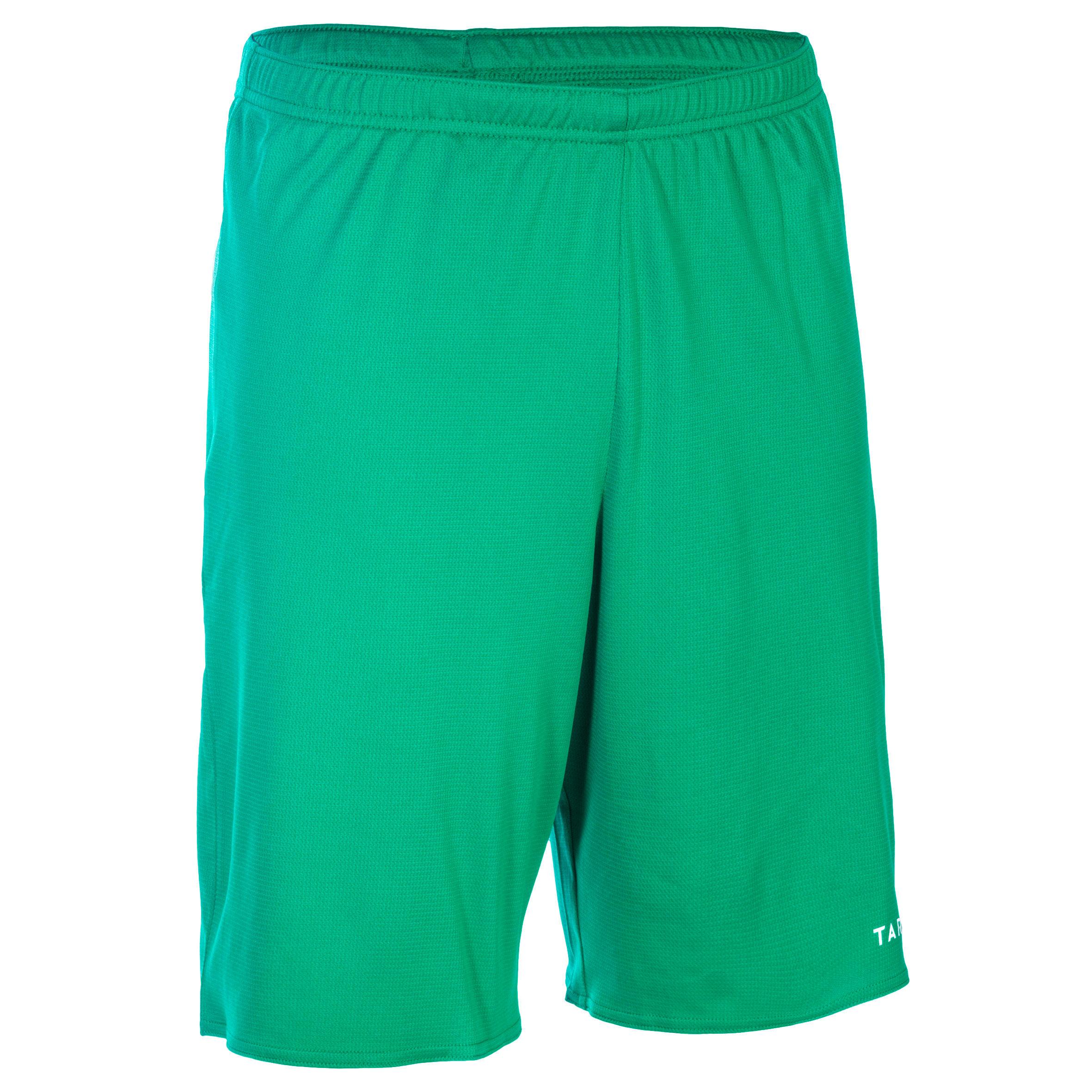 Basketballshorts SH100 Erwachsene grün | Sportbekleidung > Sporthosen > Basketballshorts | Grün - Weiß | Tarmak