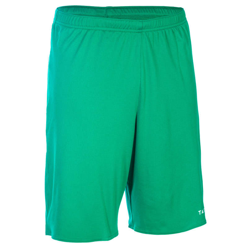 MAN BASKETBALL OUTFIT Basketball - Basketball Shorts SH100 Green TARMAK - Basketball