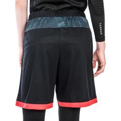 SHORT SH500 DE BASKETBALL FEMME POUR CONFIRMEE NOIR CHINE ROUGE