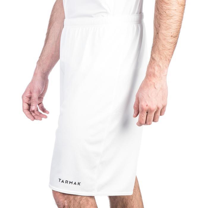 Basketbalshort voor heren SH100 wit